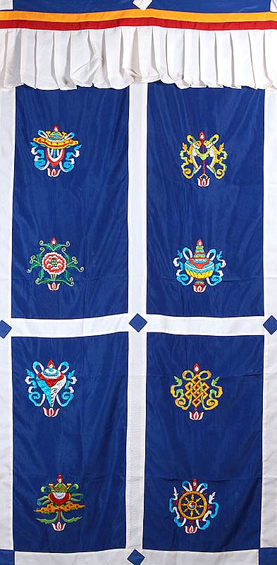 Ashtamangala Altar Curtain