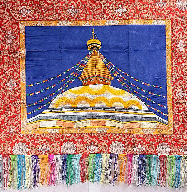 Svayambhunath Temple of Nepal - Auspicious Wall Hanging
