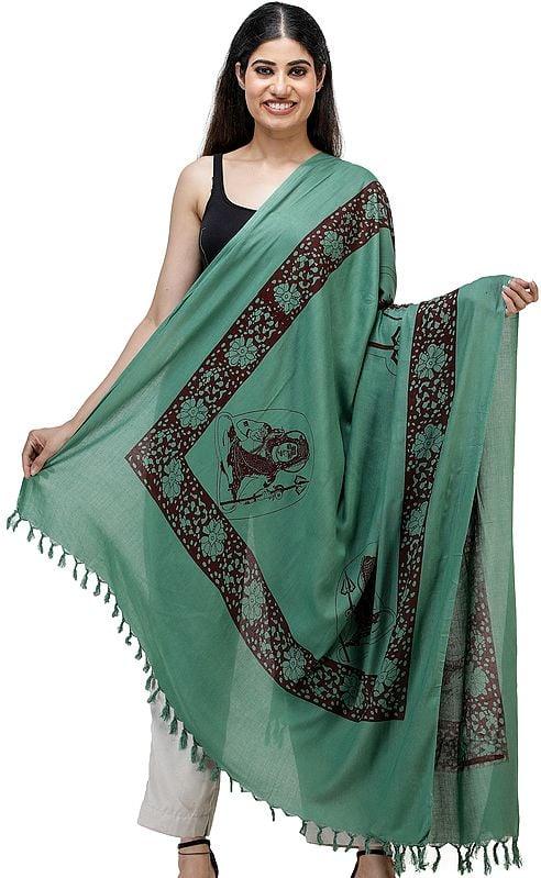 Green Prayer Shawl of Lord Shiva