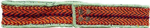 Wool Embroidered Wide Waist Belt from Haridwar