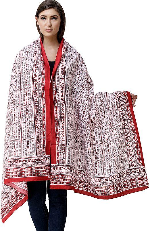 Jai Shri Ram Sanatan Dharma Prayer Shawl from Kashi