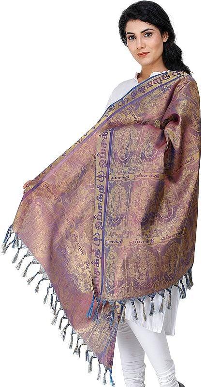 Mariamman Brocaded Prayer Shawl from Tamil Nadu