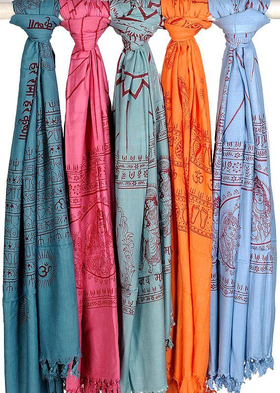 Lot of Five Prayer Shawls