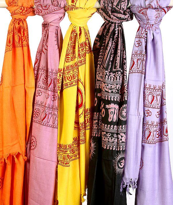 Lot of Five Dharma Prayer Shawls