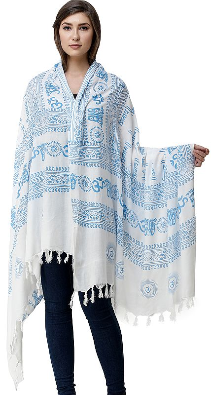 Printed Om Namah Shivai Prayer Shawl