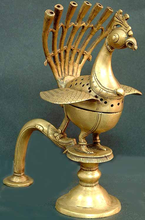 Peacock Incense Burner