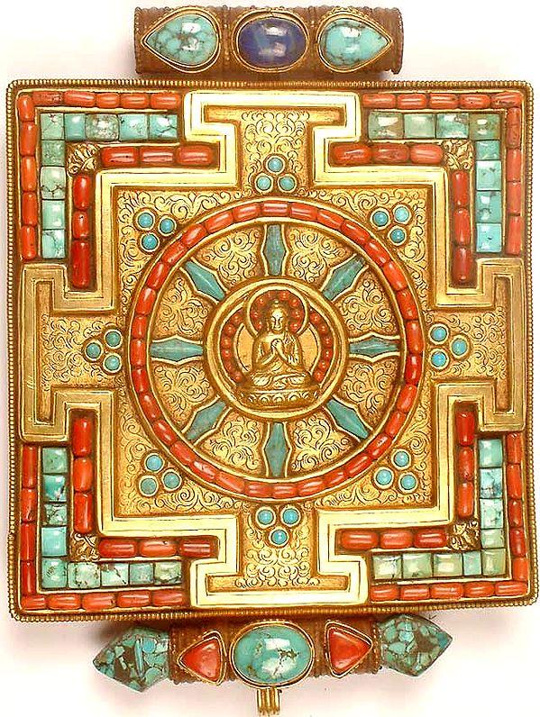 Dharma Chakra Buddha Mandala Gau Box