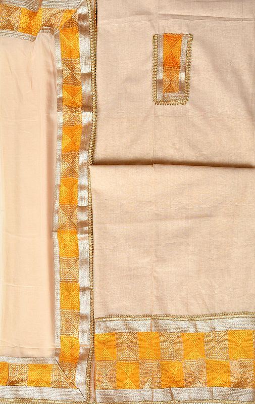 Phulkari Salwar Kameez Fabric from Punjab