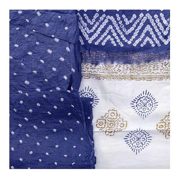 Bandhani Tie-Dyed Salwar Kameez Fabric from Gujarat