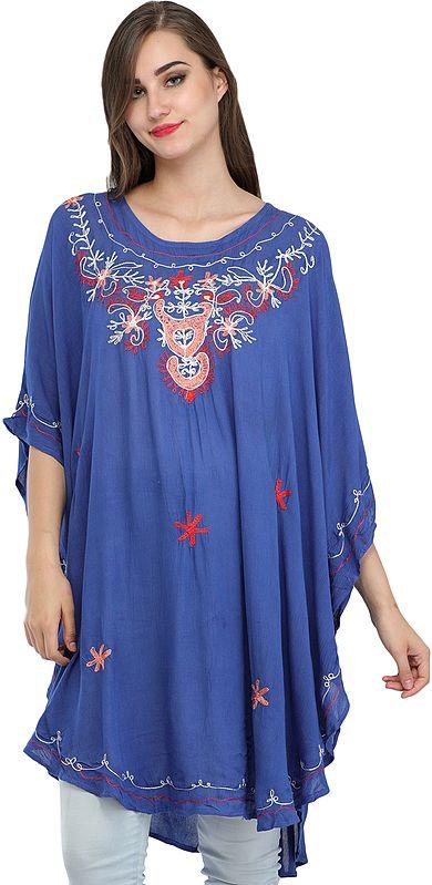 Short Kaftan with Thread-Embroidery