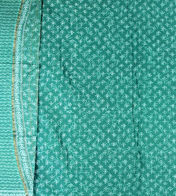Porcelain-Green Chanderi Salwar Suit with All-Over Printed Bootis