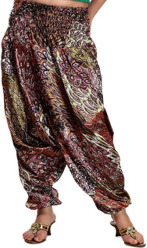 Multi-Color Printed Harem Trousers
