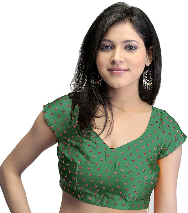 Bollywood Printed Bandhej Choli with Dori Back