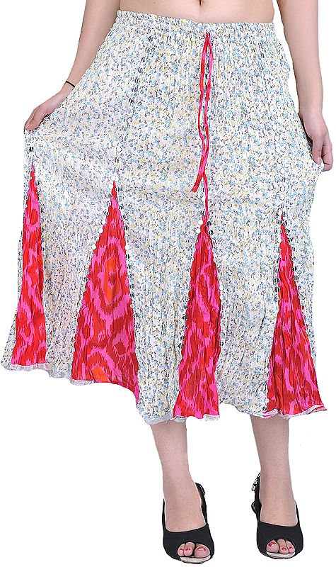 Midi-Skirt with Sequins