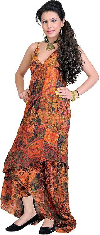 Patchwork Summer Dress with Random Prints
