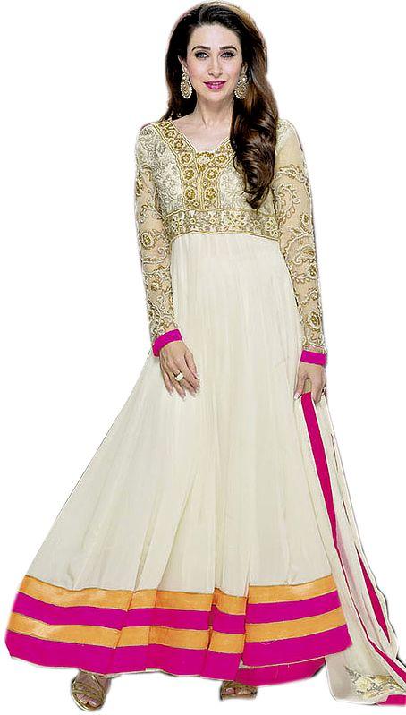 Vanilla Bridal Karishma Anarkali Suit with Zardozi Embroidery
