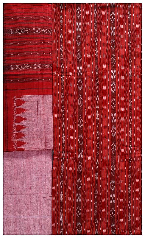 Salwar Kameez Fabric from Pochampally with Ikat Weave