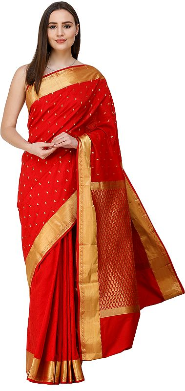 Uppada Sari from Bangalore with Self-Weave and Zari-Woven Pallu