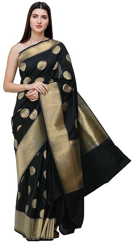 Uppada Sari from Bangalore with Zari-Woven Circular Bootis