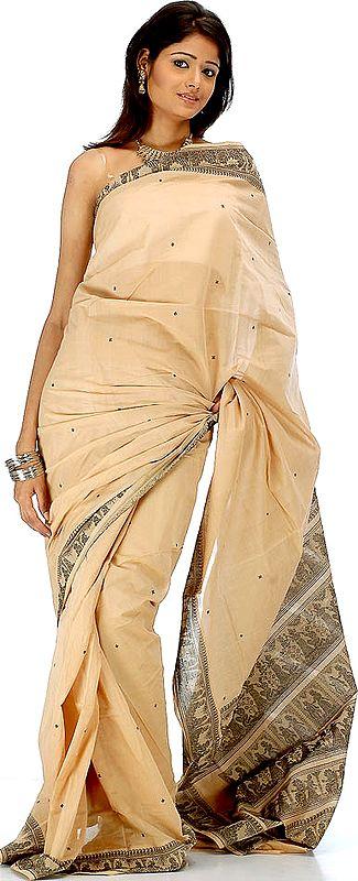 Wheat Baluchari Sari Depicting Draupadi's Cheer-Haran