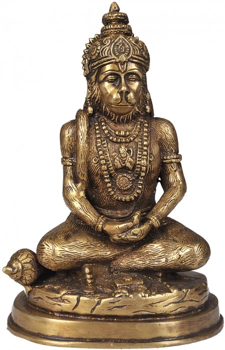 Lord Hanuman in Meditation (Yogachara Hanuman)