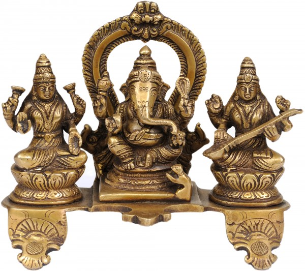 Ganesha-Lakshmi-Sarasvati, Triad Of Prosperity