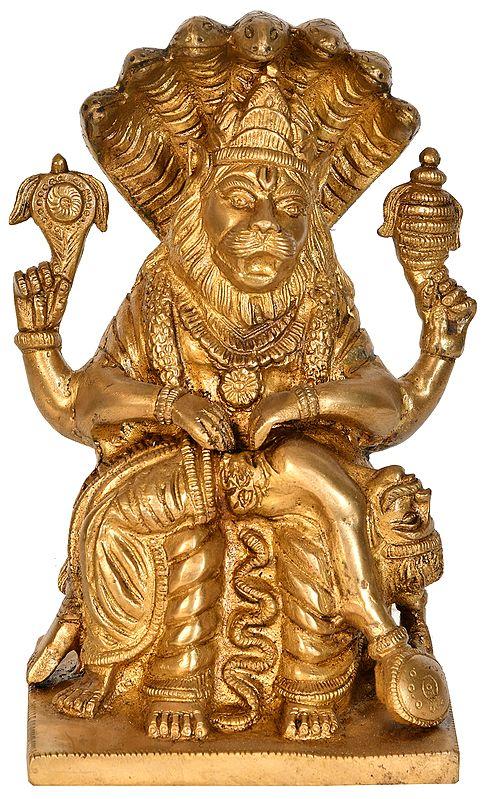 Lord Narasimha Killing Hiranyakashipu
