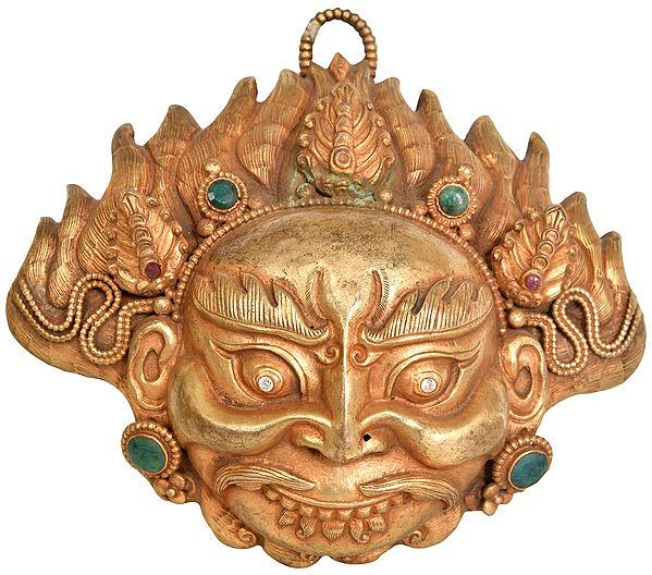 Superfine Mahakala Wall Hanging Mask - Tibetan Buddhist Deity