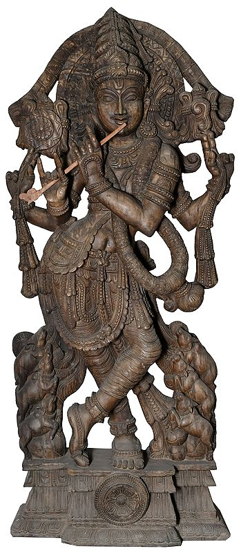 Super Large Size Cosmic Form of Venugopala (Fluting Krishna)