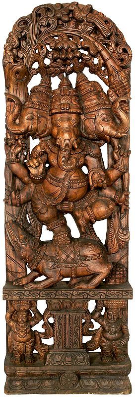 The Triply Present Lord Ganesha - Large Size