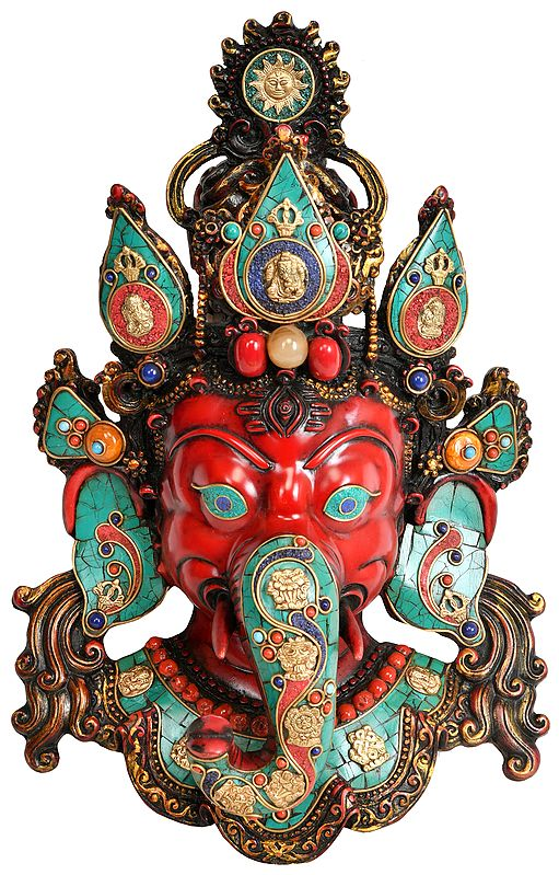 Lord Ganesha Wall Hanging Mask (Made in Nepal)