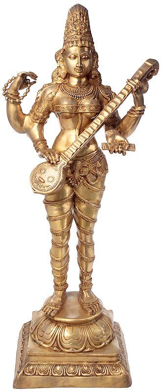 Large Size Vina-Vadini Saraswati
