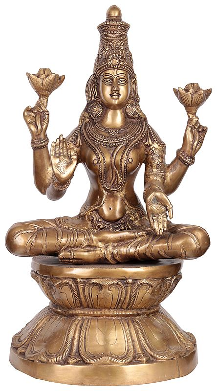 Lage Size Goddess Lakshmi as Padmavati