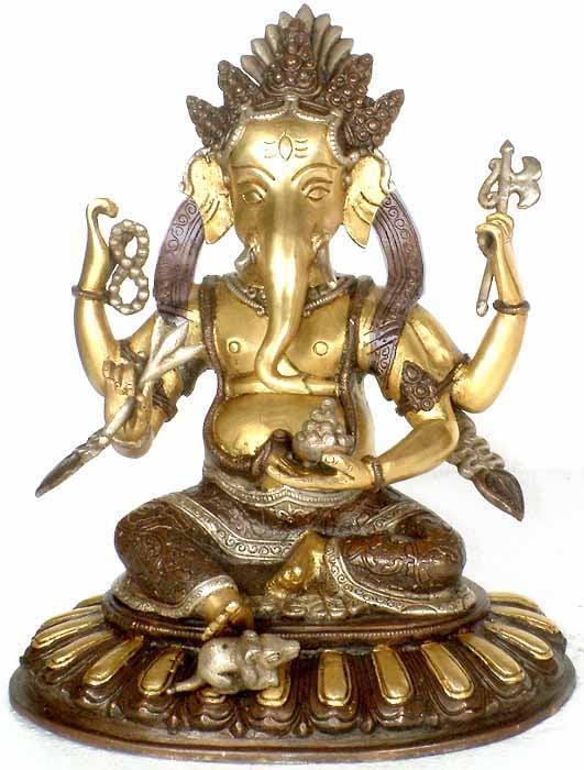 Four-Armed Ganesha
