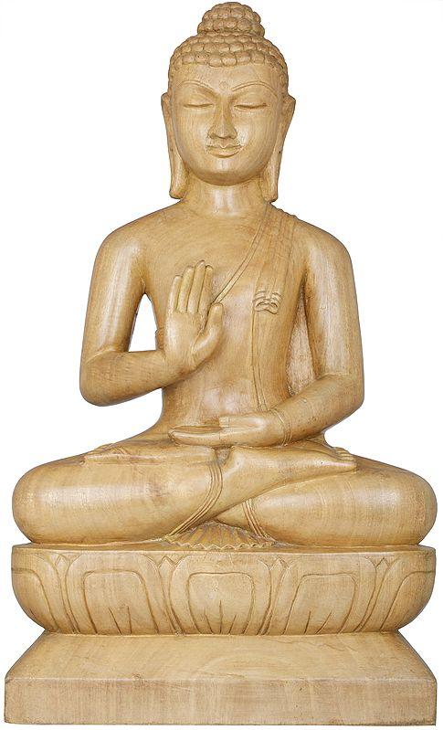Tibetan Buddhist Lord Buddha in Abhaya Mudra