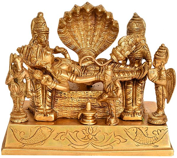 Lord Brahma Emerging from the Navel of Lord Vishnu