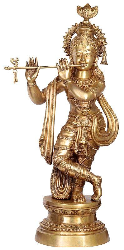 Large Size Krishna Playing the Flute