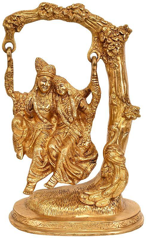 Radha and Krishna Swing Together