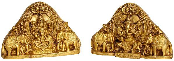 Goddess Lakshmi and Lord Ganesha Wall Hanging