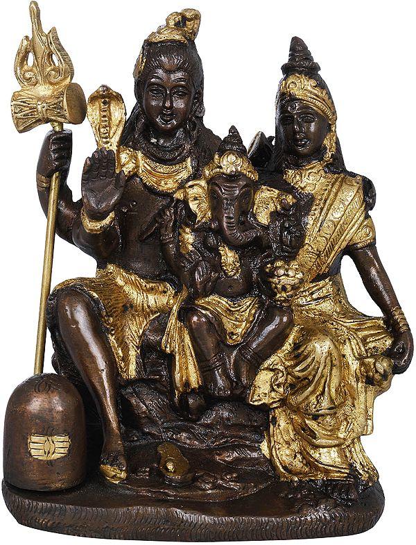 Shiva-Parivar With Lingam