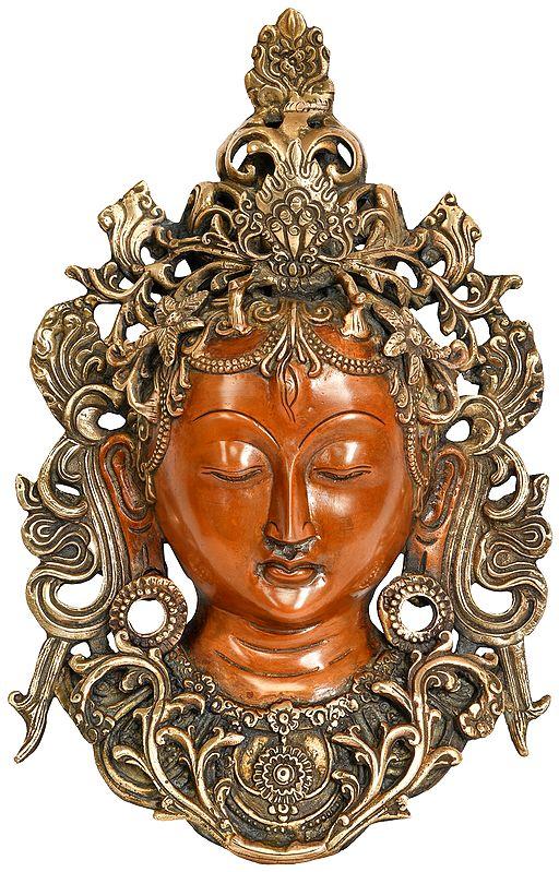 Goddess Tara Wall Hanging Mask (Tibetan Buddhist)