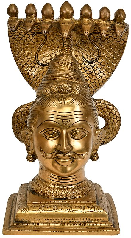 Shiva as Bhairava Protected by Seven Hooded Serpent
