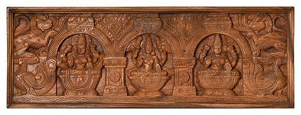 Auspicious Panel with Three Lakshmi