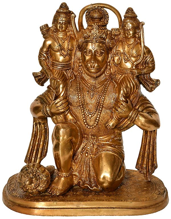 Hanumanji Carrying Shri Rama and Shri Lakshmana on His Shoulders (An Episode from the Ramayana)