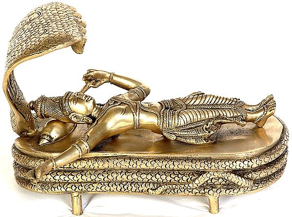 Lord Vishnu in Yoga Nidra on Sheshnag