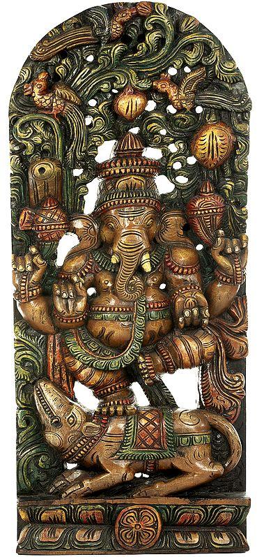 Lord Ganesha Dancing on His Rat