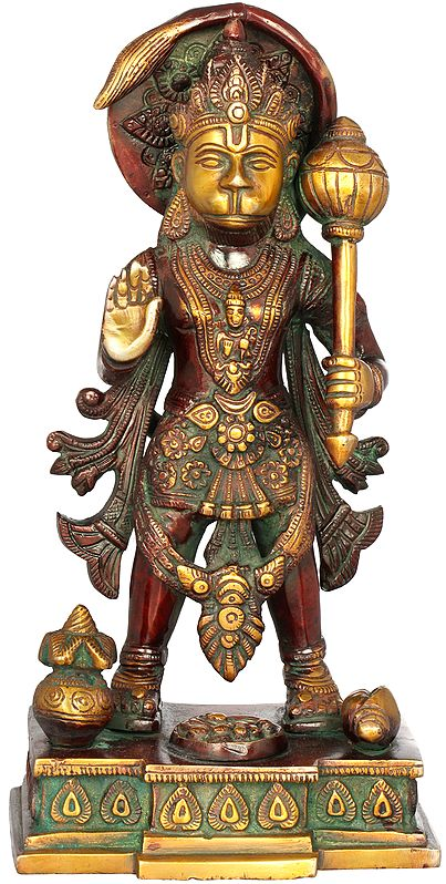 Standing Blessing Hanuman (Altar Piece)