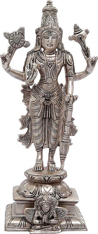 Lord Vishnu Standing on Garuda Pedestal