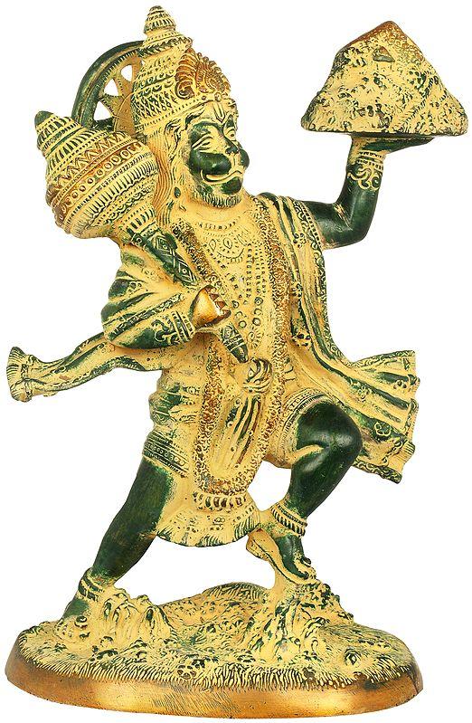 Mighty Hanuman Holding The Sanjeevani Mountain