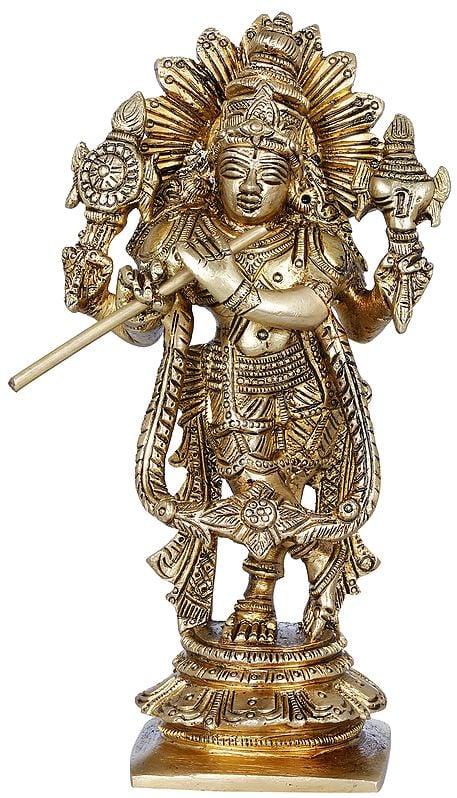 Cosmic Krishna Playing Flute